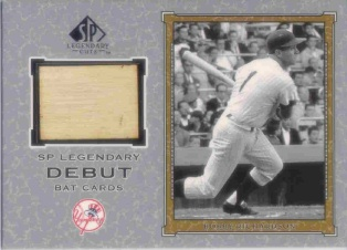 2001 SP Legendary Cuts Debut Game Bat #DBR Bobby Richardson SP
