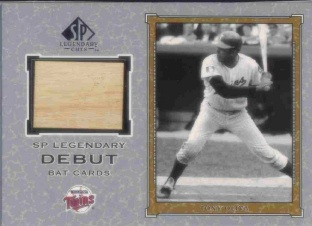 2001 SP Legendary Cuts Debut Game Bat #DTO Tony Oliva