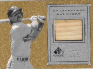 2001 SP Legendary Cuts Game Bat #BRY Robin Yount *