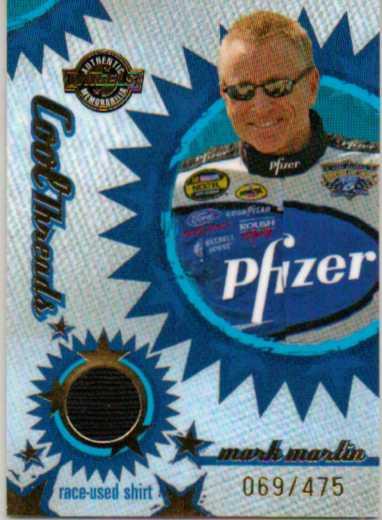 2005 Wheels American Thunder Cool Threads #CT6 Mark Martin