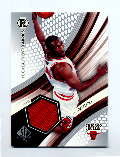 2004-05 SP Authentic Fabrics Rookies #BG Ben Gordon