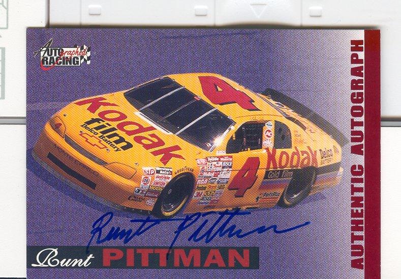 1996 Autographed Racing Autographs #42 Runt Pittman