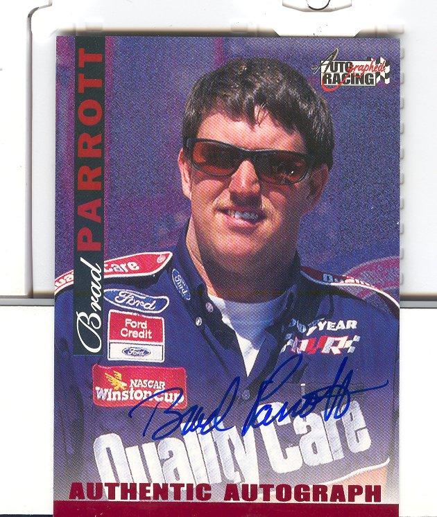 1996 Autographed Racing Autographs #38 Brad Parrott