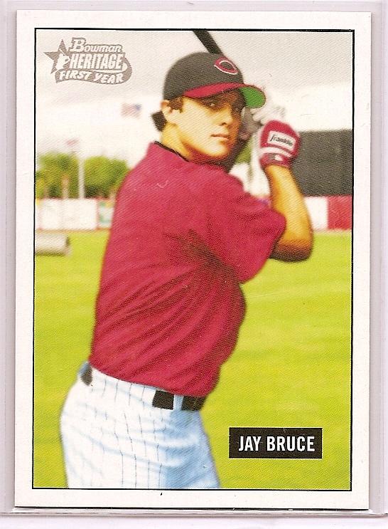 2005 Bowman Heritage Draft Pick Variation #343 Jay Bruce