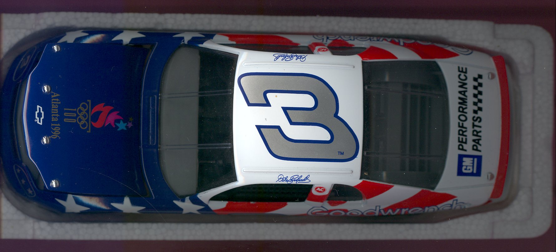 1996 Revell Retail 1:64 #3 D.Earnhardt/Olympic Small BX