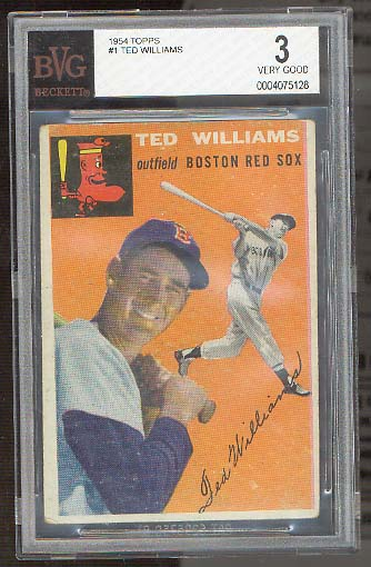 1954 Topps #1 Ted Williams BVG 3 Vg