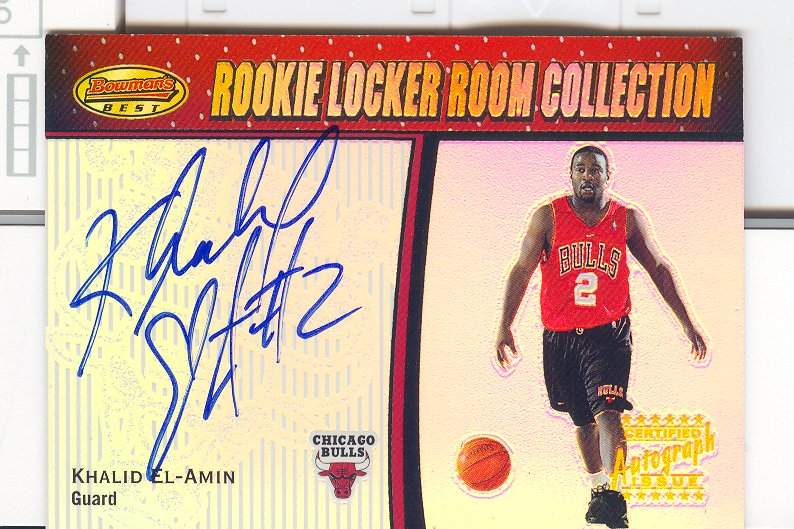 2000-01 Bowman's Best Rookie Locker Room Collection #LRCA6 Khalid El-Amin AU