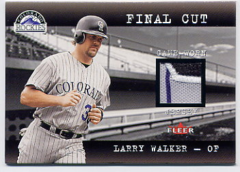 2001 Fleer Genuine Final Cut #26 Larry Walker
