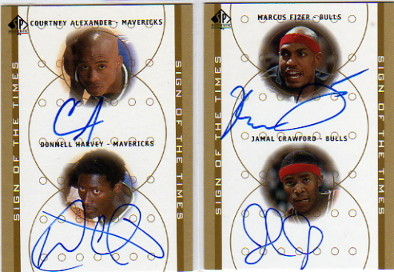 2000-01 SP Authentic Sign of the Times Double #FIJC Marcus Fizer/Jamal Crawford