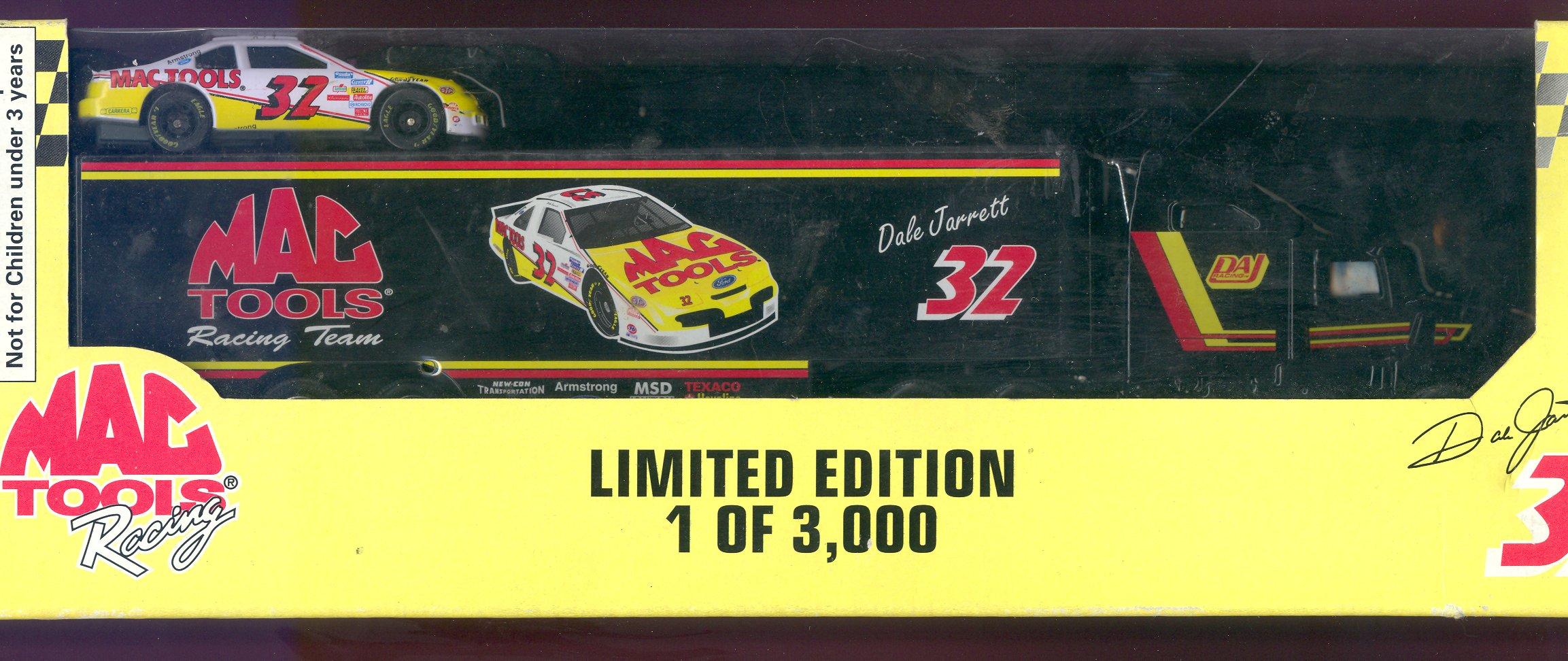 1995 Racing Champions Premier Transporters 1:64 #32 D.Jarrett/Mac Tools/3000