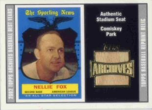 2002 Topps Archives Seat Relics #TSRNF Nellie Fox 59 B