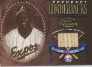 2001 Donruss Classics Legendary Lumberjacks #LL43 Vladimir Guerrero