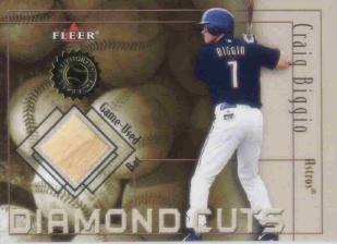 2001 Fleer Authority Diamond Cuts Memorabilia #4 Craig Biggio Bat/800