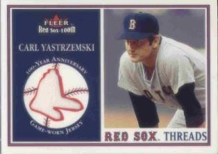 2001 Fleer Red Sox 100th Threads #8 Carl Yastrzemski