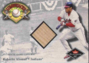 2001 Fleer Platinum Lumberjacks #1 Roberto Alomar