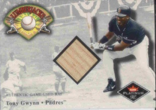 2001 Fleer Platinum Lumberjacks #15 Tony Gwynn