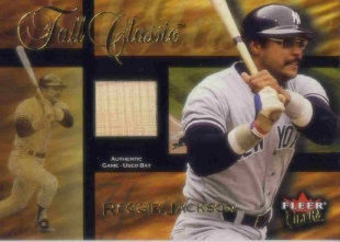 2002 Ultra Fall Classic Memorabilia #13 Reggie Jackson Bat