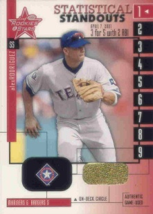 2001 Leaf Rookies and Stars Statistical Standouts #SS10 Alex Rodriguez