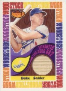 2001 Topps American Pie Woodstock Relics #BBWMDS Duke Snider Bat