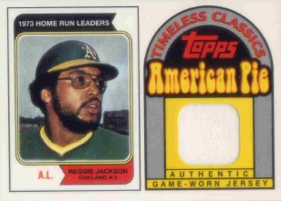 2001 Topps American Pie Timeless Classics Relics #BBTC28 Reggie Jackson 74 Jsy