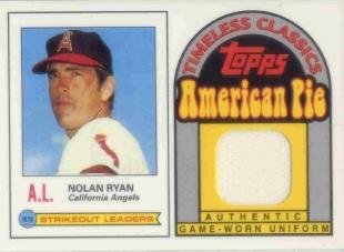2001 Topps American Pie Timeless Classics Relics #BBTC38 Nolan Ryan 79 Jsy