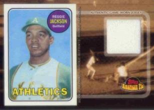 2001 Topps American Pie Rookie Reprint Relics #BBRRRJ Reggie Jackson Jsy