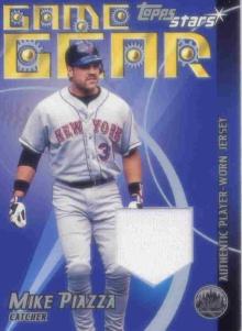 2001 Topps Stars Game Gear Jerseys #TSRMP Mike Piazza A