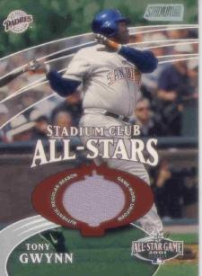 2002 Stadium Club All-Star Relics #SCASTG Tony Gwynn Jsy G4