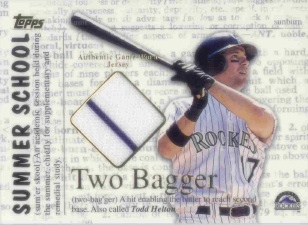 2002 Topps Summer School Two Bagger Relics #2BTH Todd Helton Jsy A