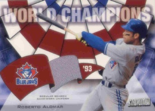 2002 Stadium Club World Champion Relics #WCRA Roberto Alomar Pants