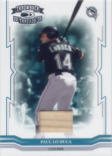 2005 Throwback Threads Material Bat #14 Paul Lo Duca/250