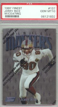 1997 Topps Finest Football #137 Jerry Rice PSA GEM MINT 10 Masters San Francisco 49ers AWESOME!!!