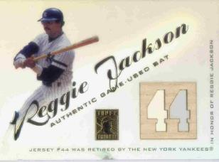 2001 Topps Tribute Game Bat Relics #RBRJ Reggie Jackson 1