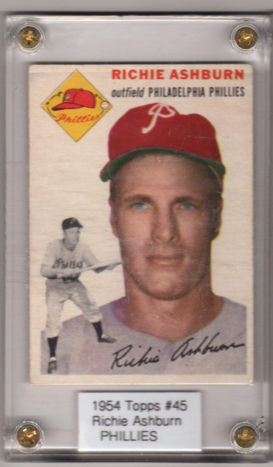 1954 Topps #45 Richie Ashburn