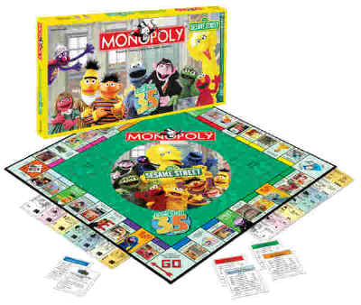 Usaopoly Sesame Street Monopoly Collectors Edition Board Game Mint