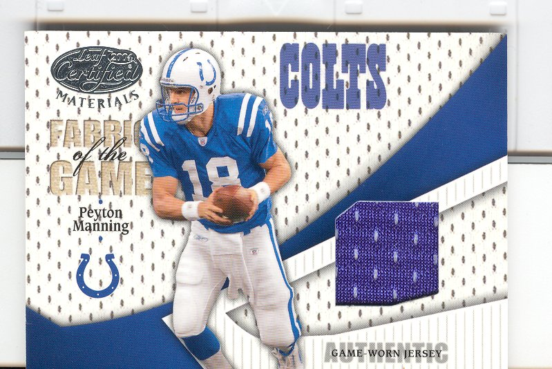 2004 Leaf Certified Materials Fabric of the Game #FG75 Peyton Manning