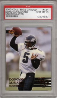 2000 Collector's Edge EG Uncirculated Graded #134  D.McNabb Gem Mt PSA GEM Mint 10!