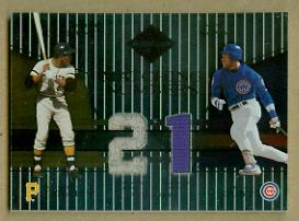 2004 Leaf Limited Matching Numbers #9 Roberto Clemente Jsy/Sammy Sosa Jsy/100