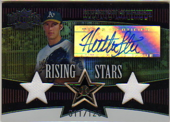 2006 Topps Triple Threads Sepia #105 Huston Street AU J-J