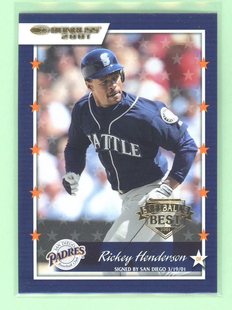 2001 Donruss Baseball's Best Gold #21 Rickey Henderson