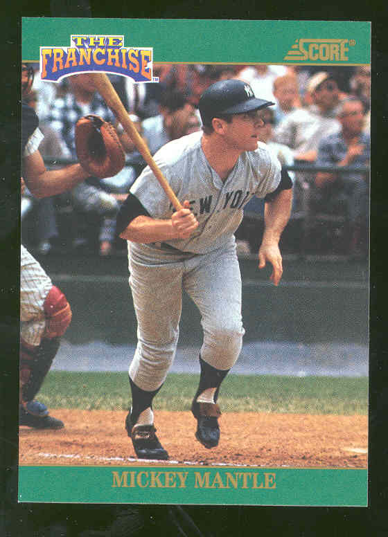 1992 Score Franchise #2 Mickey Mantle