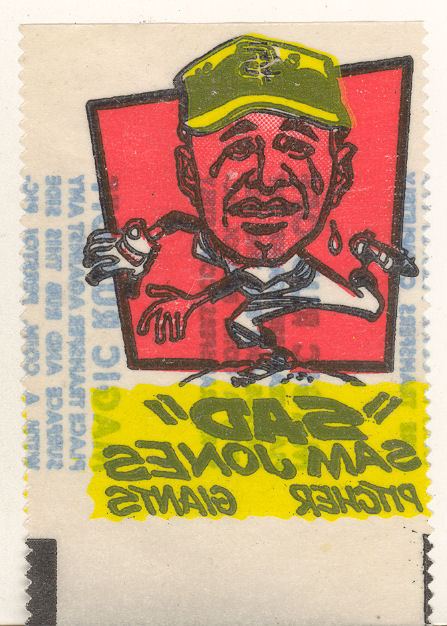 1961 Topps Magic Rub-Offs #31 Sam Jones