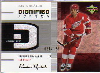 2002-03 Upper Deck Rookie Update Jerseys Gold #DBS Brendan Shanahan