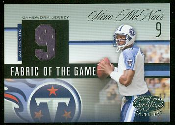 2006 Leaf Certified Materials Fabric of the Game Jersey Number #137 Steve McNair/9