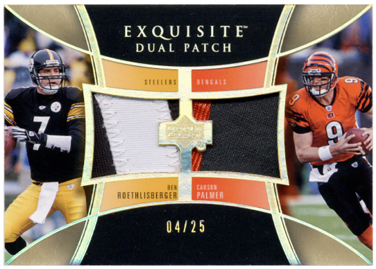 2005 Exquisite Collection Patch Duals #RP Ben Roethlisberger/Carson Palmer