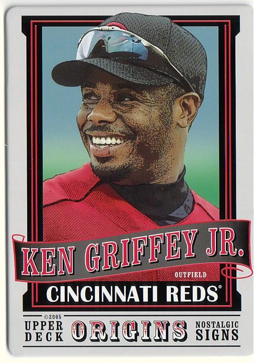 2005 Origins Nostalgic Signs #KG Ken Griffey Jr.