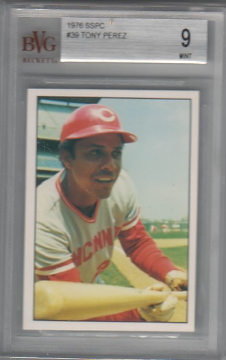 1976 SSPC Tony Perez #39 BVG/BGS 9 MINT REDS