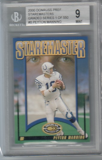 2000 Don Staremasters Graded Peyton Manning #8 BGS 9 MINT