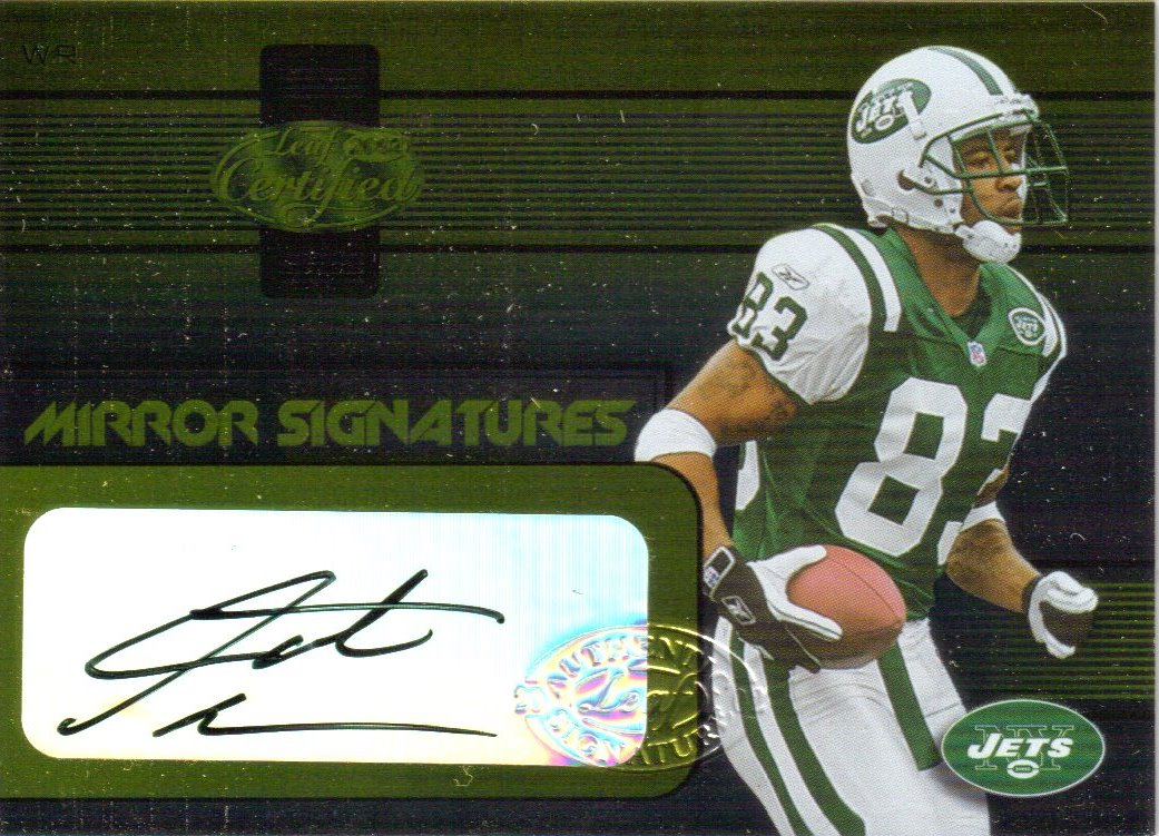 2002 Leaf Certified Mirror Gold Signatures #31 Santana Moss