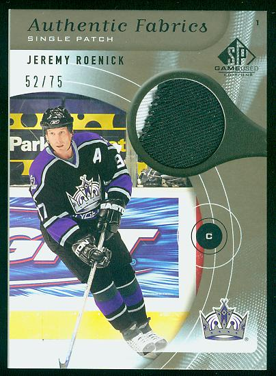 2005-06 SP Game Used Authentic Fabrics Patches #APJR Jeremy Roenick